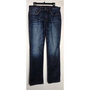 Joes jeans brixton straight leg distressed 34